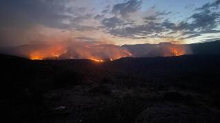 Evacuation orders have been issued as the Tiger Fire burns east of Crown King.  As of Thursday morning, fire officials said the fire has grown to 13,175 acres and is 29% contained.