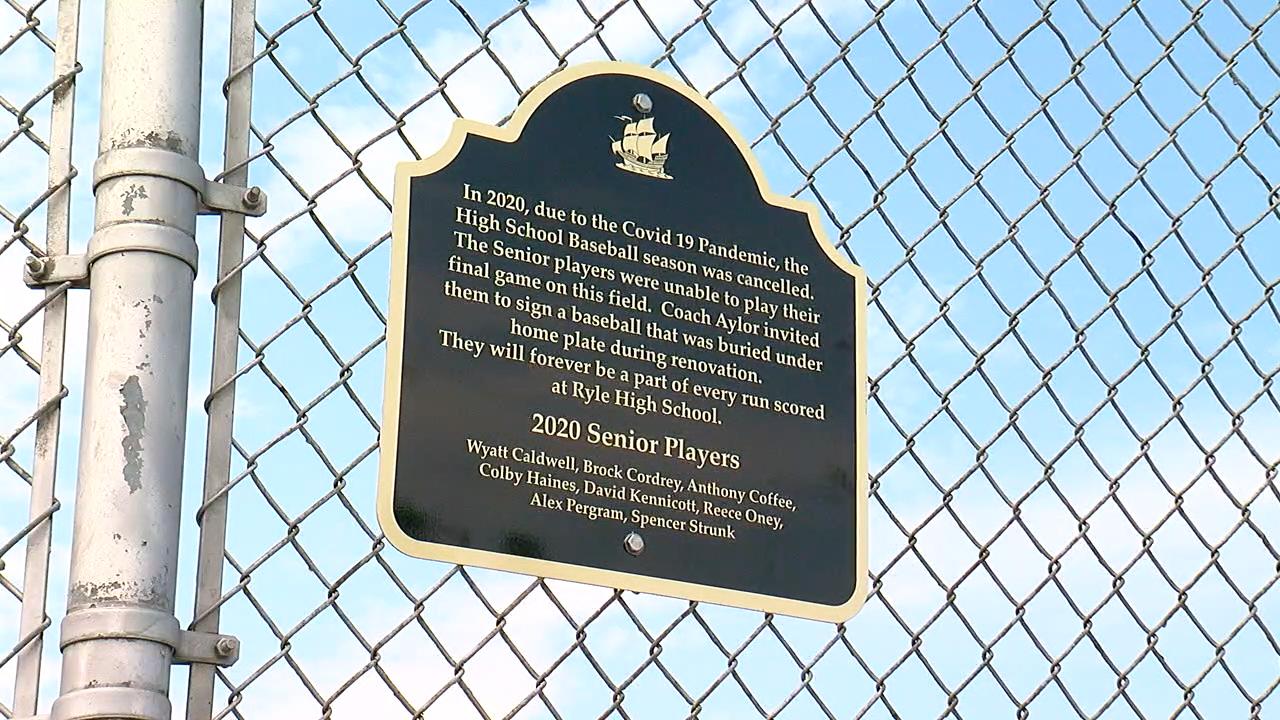Ryle Baseball plaque