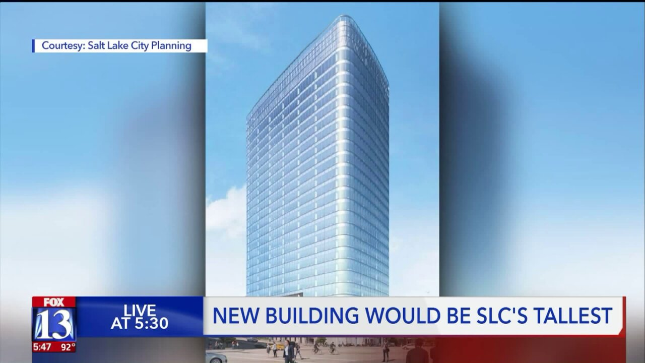 Proposed residential skyscraper would be Utah's tallest high-rise