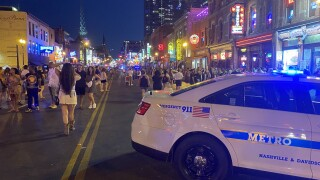 Police shut down Broadway to cars