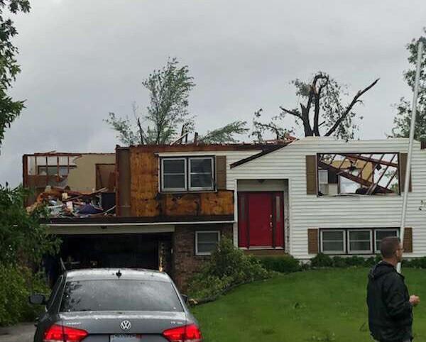 Damage near Lawrence