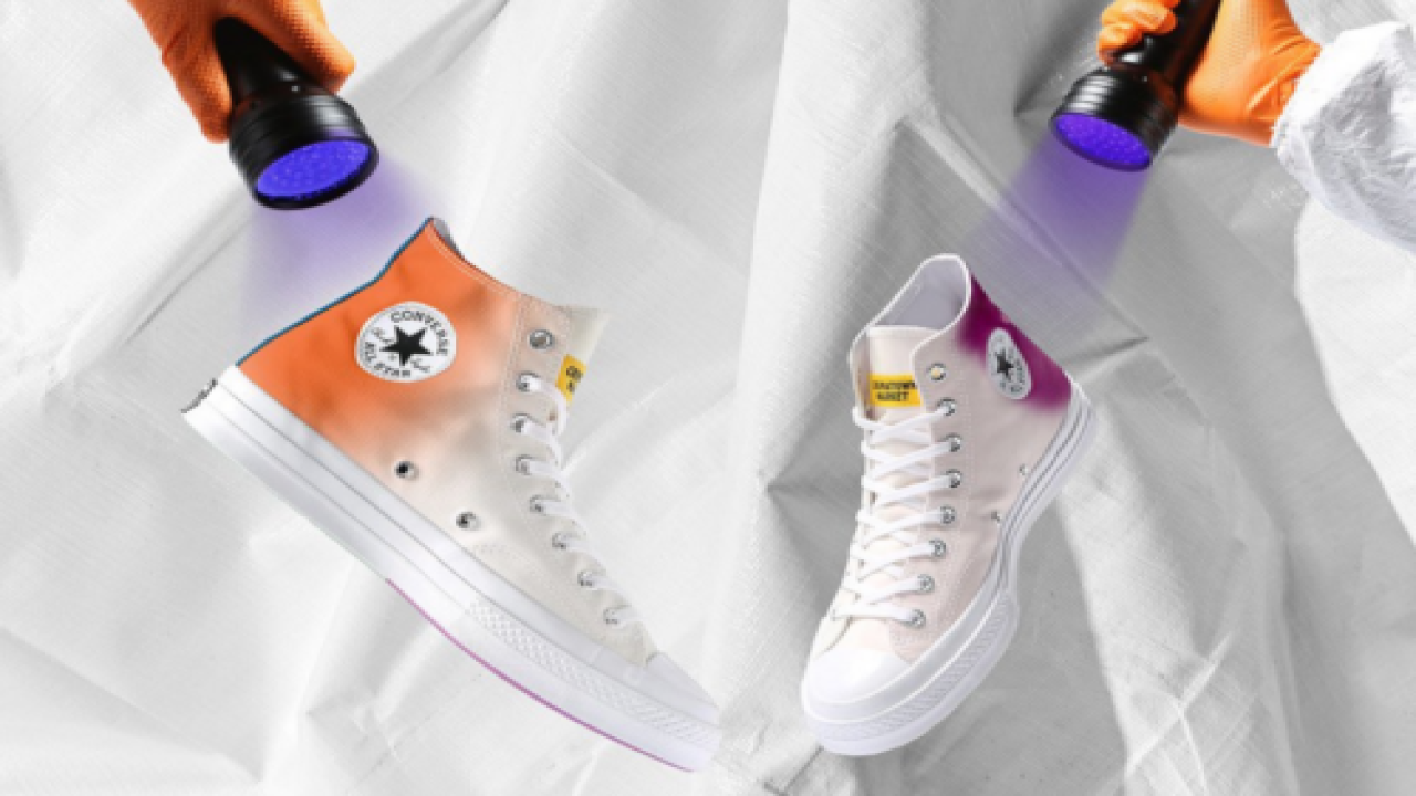These New UV-activated Sneakers From Converse Change From White To A Rainbow Of Colors In The Sun