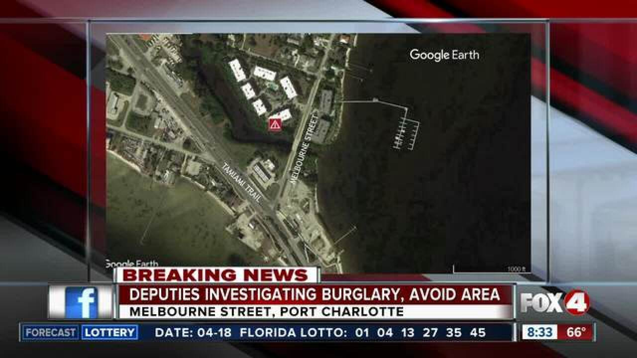 Deputies investigating burglary in Port Charlotte condo with