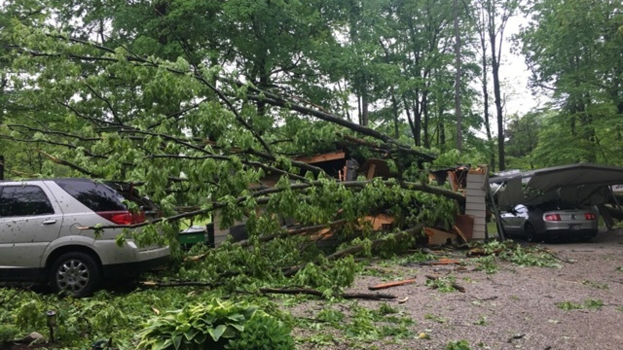 PHOTOS: Storm damage across central Indiana from May 10 storms