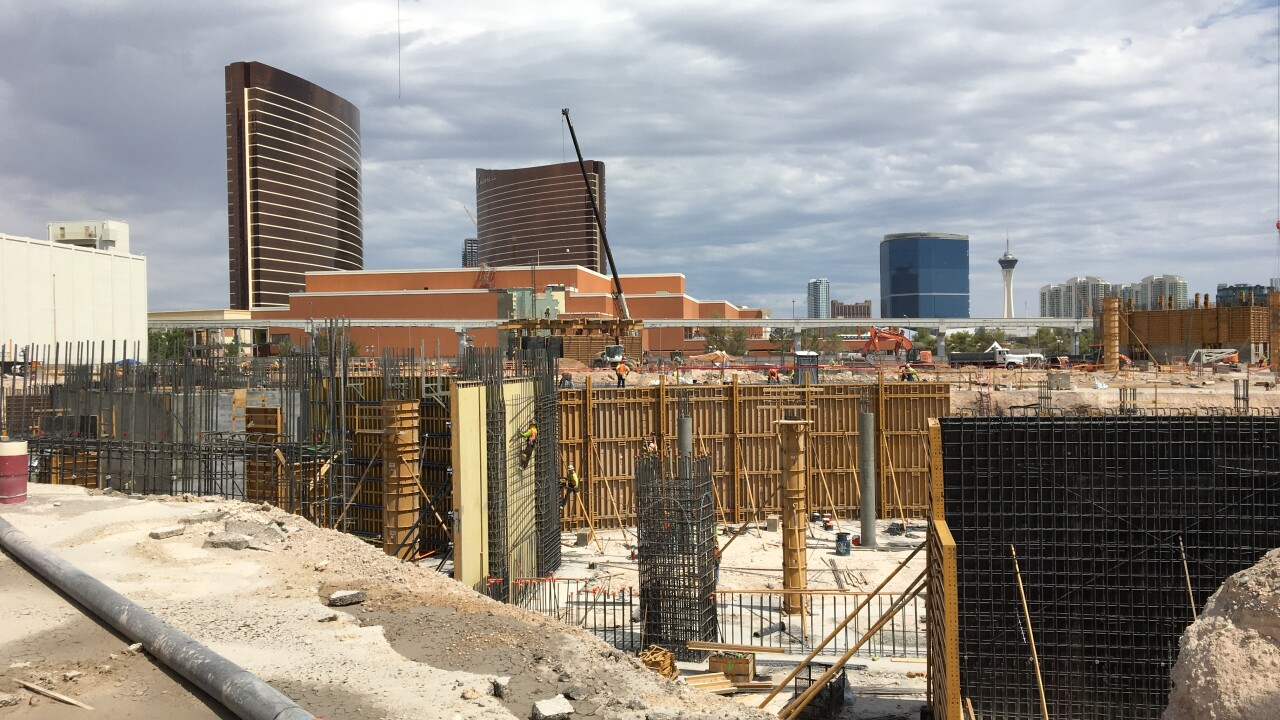 Construction began in September on the MSG Sphere, a new venue just east of the Strip