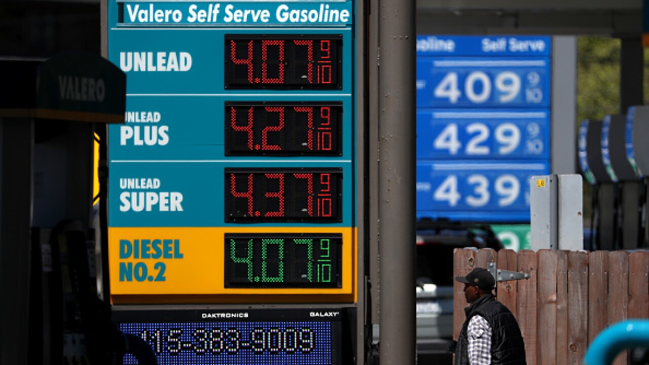 Gas Prices Pass 4 Dollars A Gallon In California's Bay Area