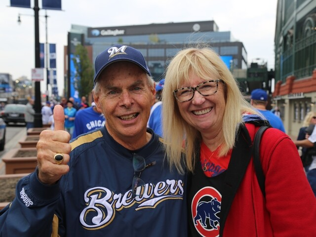 Brewers fans celebrate Game 163 victory outside Wrigley Field [PHOTOS]