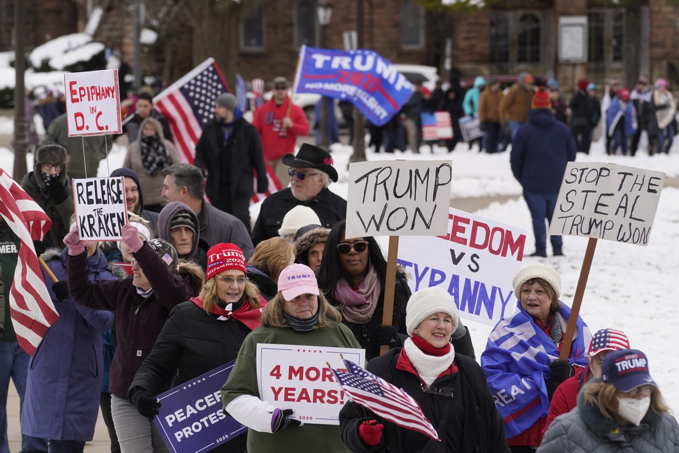 Electoral College Protests Trump Michigan