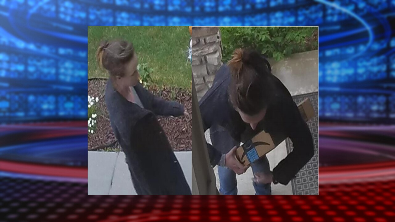 Police seek suspect in Bluffdale package theft