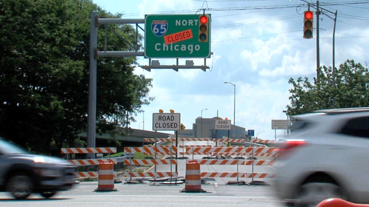 Parts of I-65 in downtown Indy closing Jul - Aug