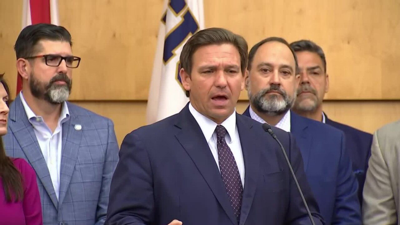 Gov. Ron DeSantis holds a news conference at Florida International University in Miami on May 24, 2021.jpg