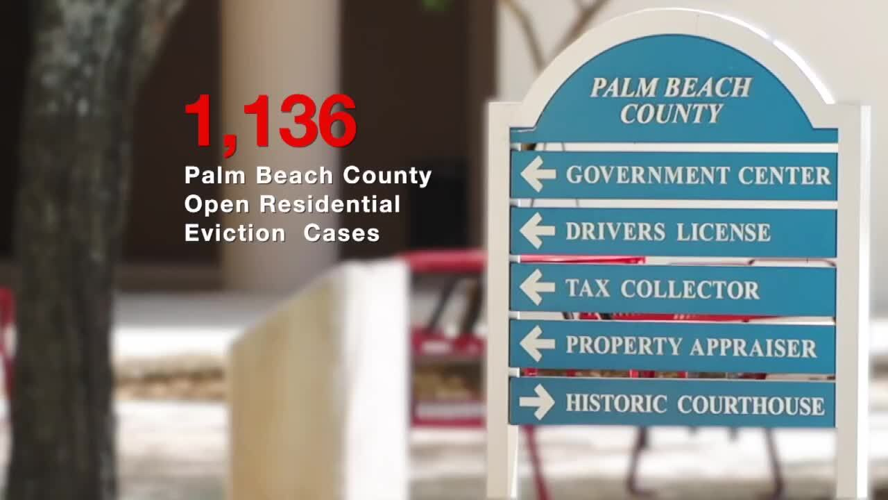 1,136 Palm Beach County Open Residential Eviction Cases