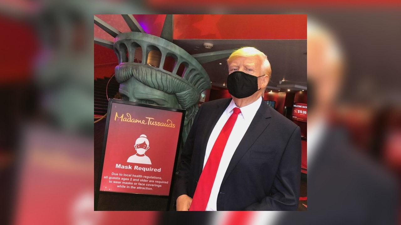 President Trump's wax figure to don mask at Madame Tussauds in NY
