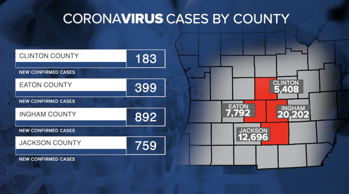 April 6 - April 14 COVID Cases by County