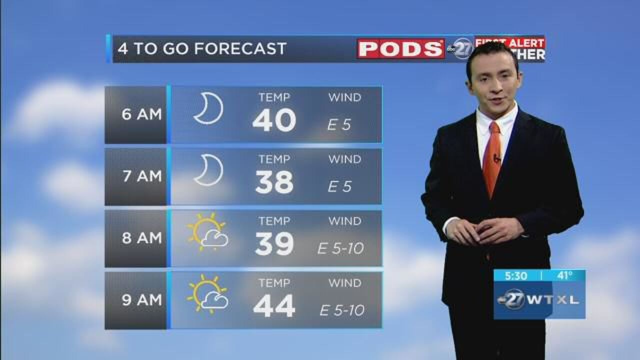 First Alert 4-to-Go Forecast: Jan. 22, 2019