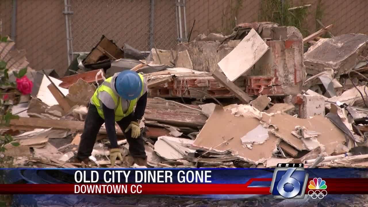 City Diner being demolished