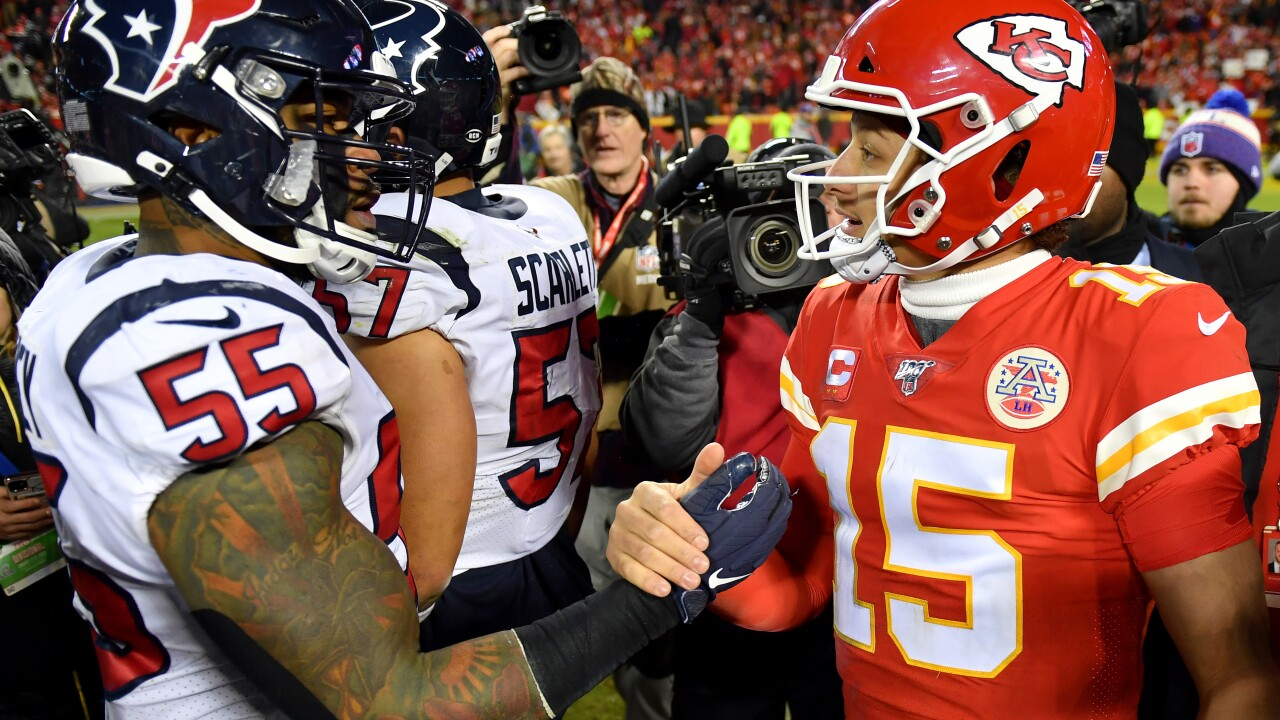 Chiefs rally from 24-0 hole to beat Texans 51-31 in playoffs, Kansas City will host Titans in AFC Championship game