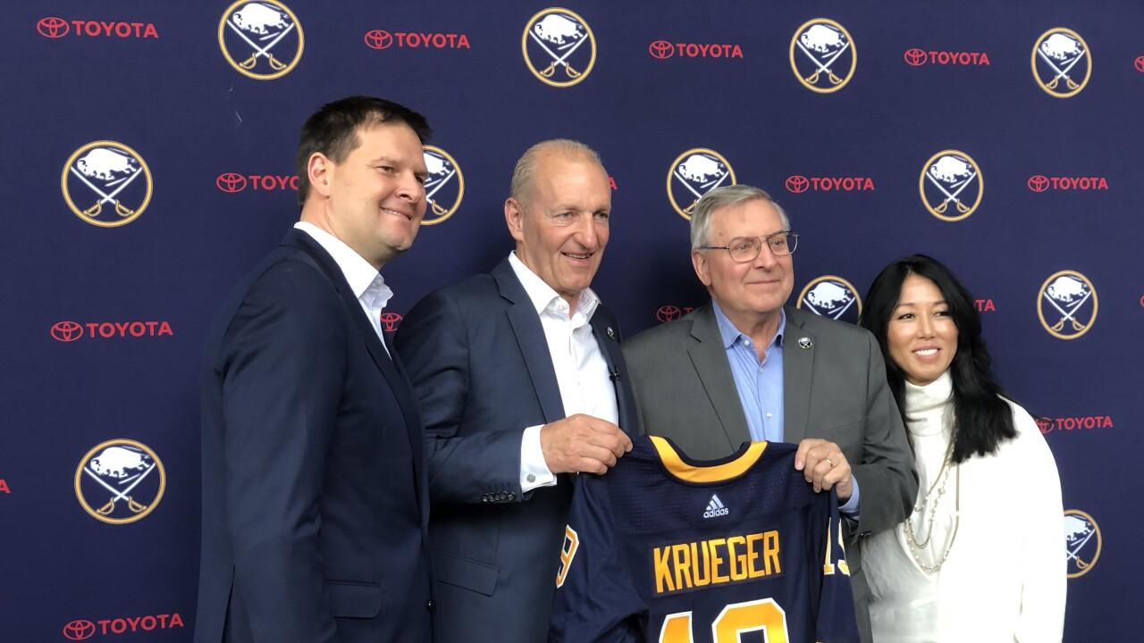 Ralph Krueger introduced as Sabres next head coach