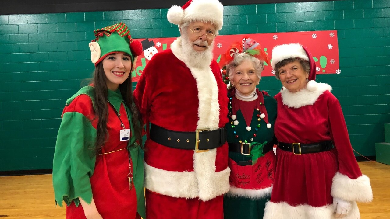 Santa Claus, Mrs. Claus and his elves