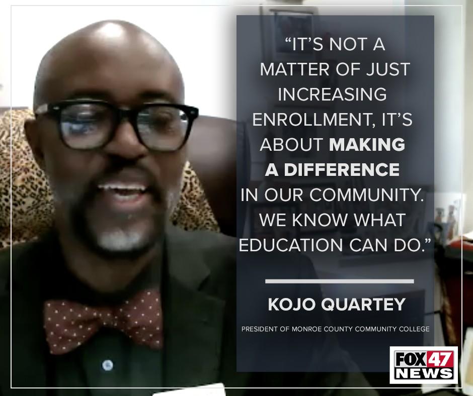 President of Monroe County Community College, Dr. Kojo Quartey