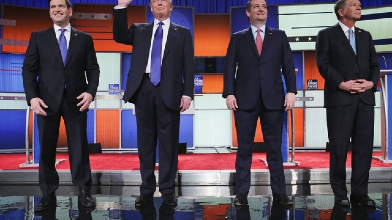 Trump, GOP rivals fight politely in GOP debate