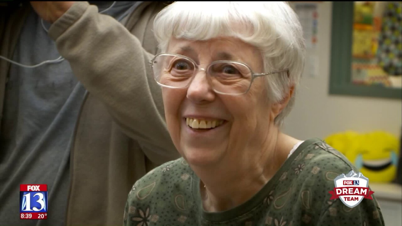 Loyal elementary school volunteer gets generous Dream Team surprise