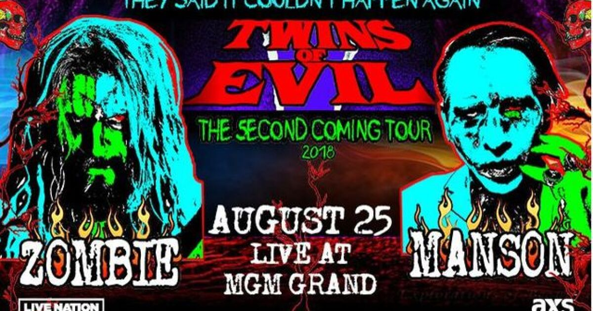 Rob Zombie, Marilyn Manson team up for another 'Twins of