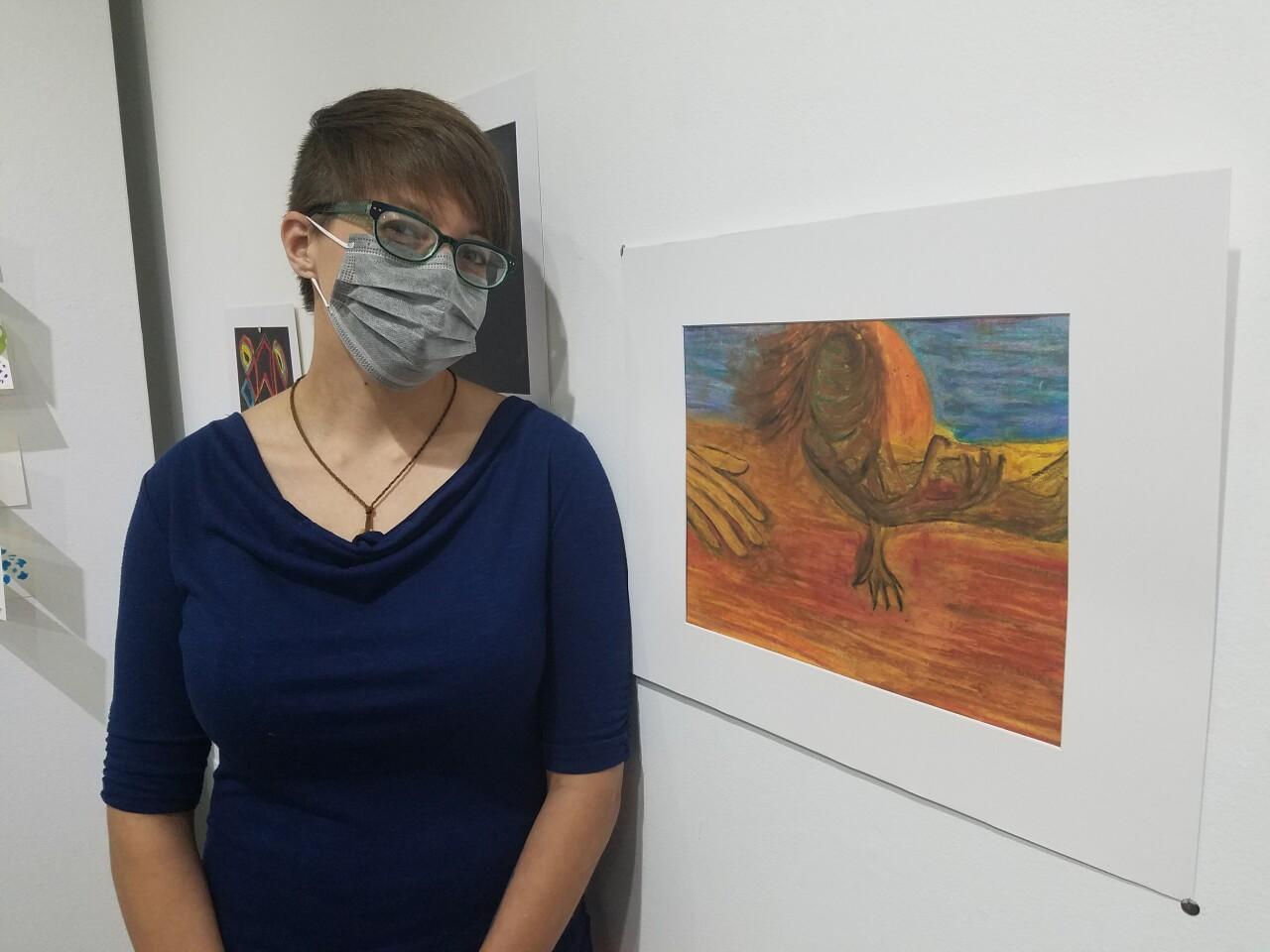 Artist Lisa Santillanez