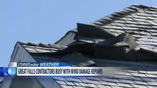 Contractors begin roof repairs after powerful wind storm