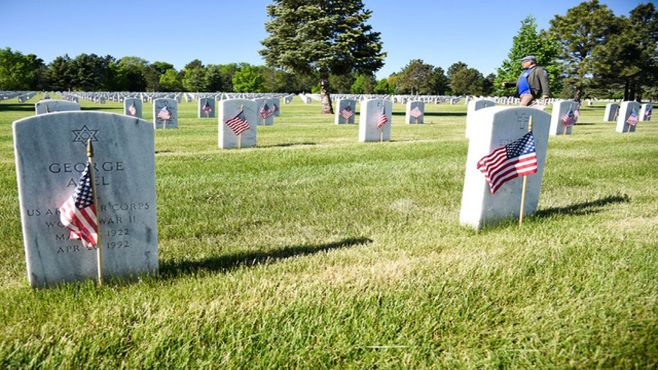 Memorial Day: 10,000 flags placed at Fort Logan