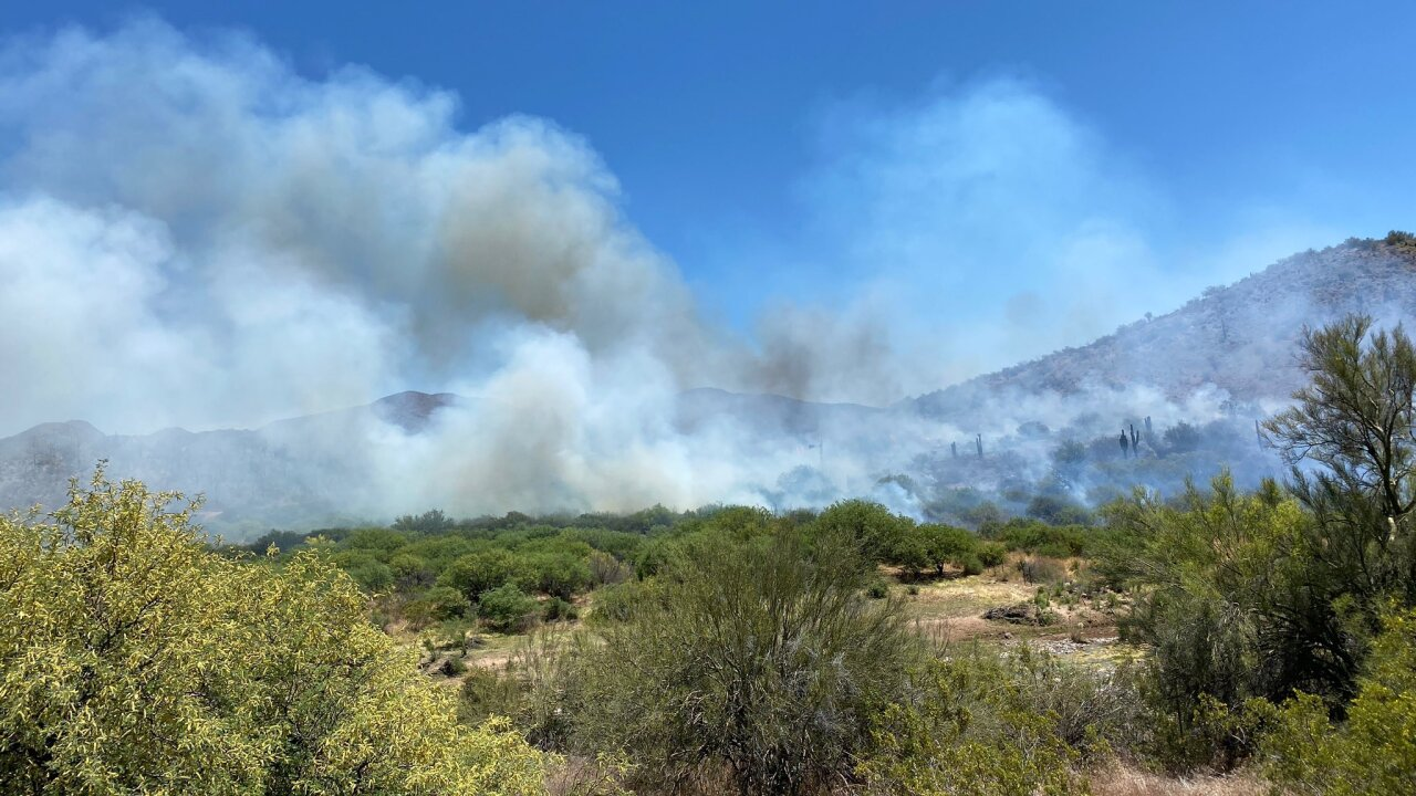 brushfire near new river road