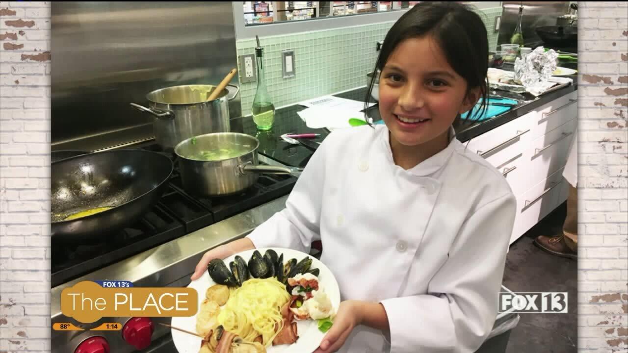 An 11-year-old chef shows us her culinaryskills