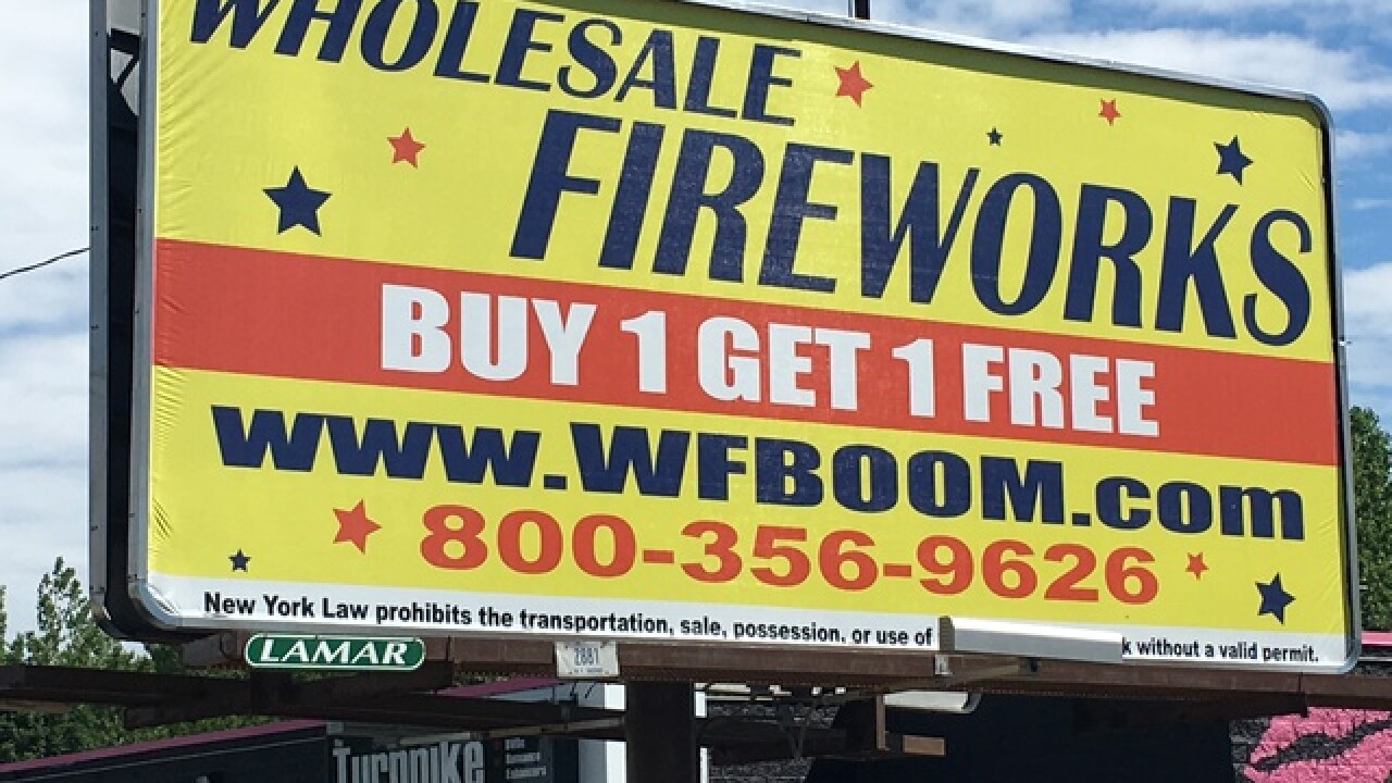 Where are fireworks legal in Western New York?