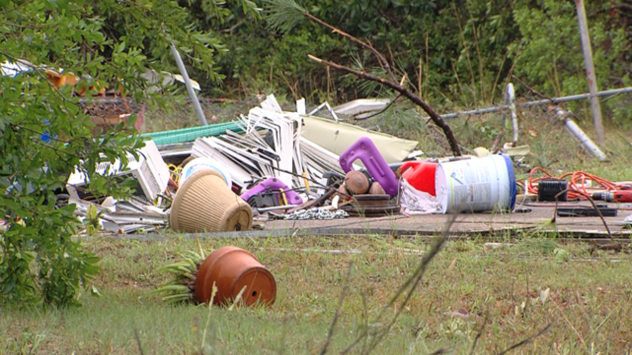 Injuries, damage as storms sweep across Fla.