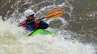 Kayaker on Clear Creek