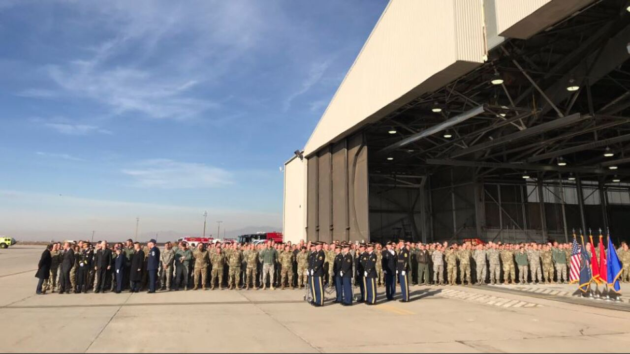 Remains of Maj. Brent Taylor arrive in Utah ahead of weekend memorial services