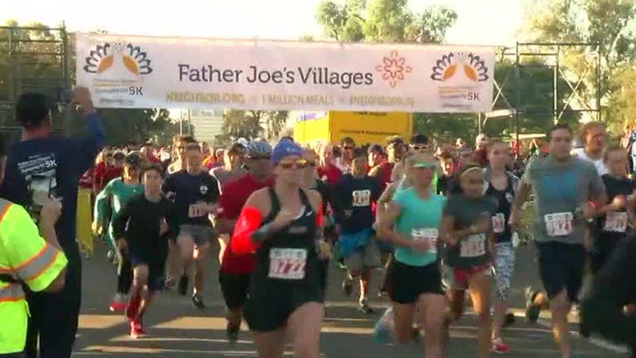 Father Joe's Villages hosts 17th annual Thanksgiving Day 5K run-walk at Balboa Park