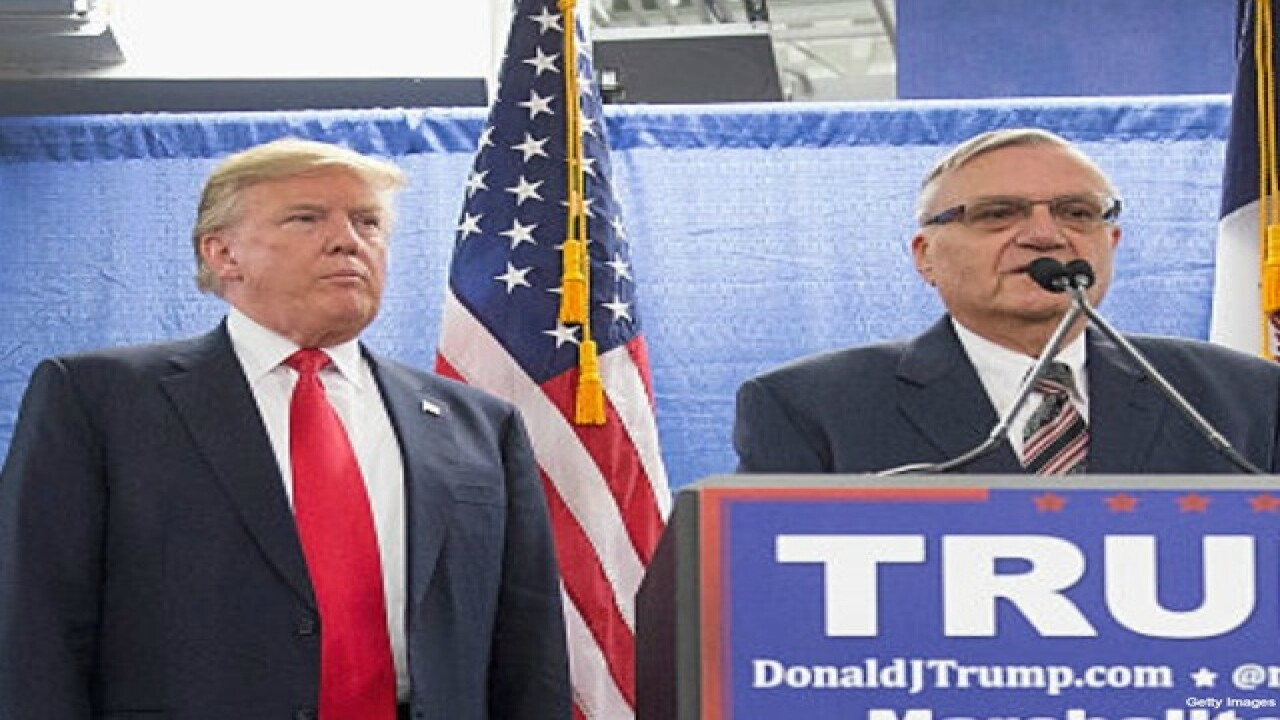 Arpaio to speak at Trump's Wednesday rally