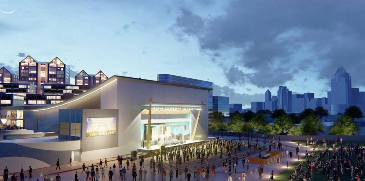 Concert venue rendering of Ovation in Newport, Kentucky.