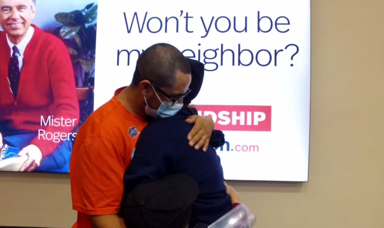 Suceli and Domingo embrace at PBIA after 5 years apart