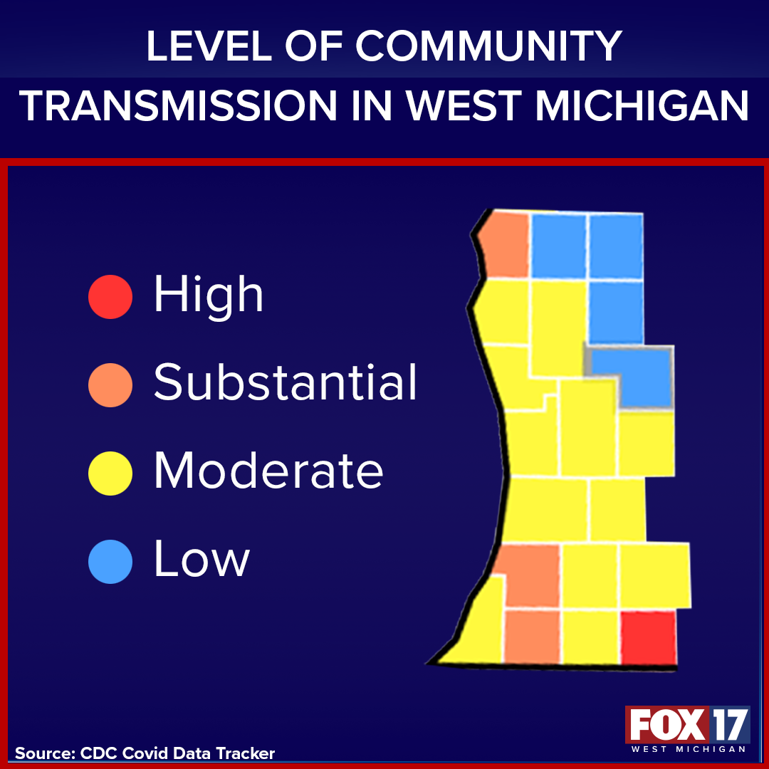 Level of Community Transmission in West Michigan FACTOID.png