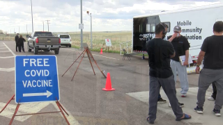 """Vaccination """"pit stop"""" for truckers on I-15 near Conrad"""