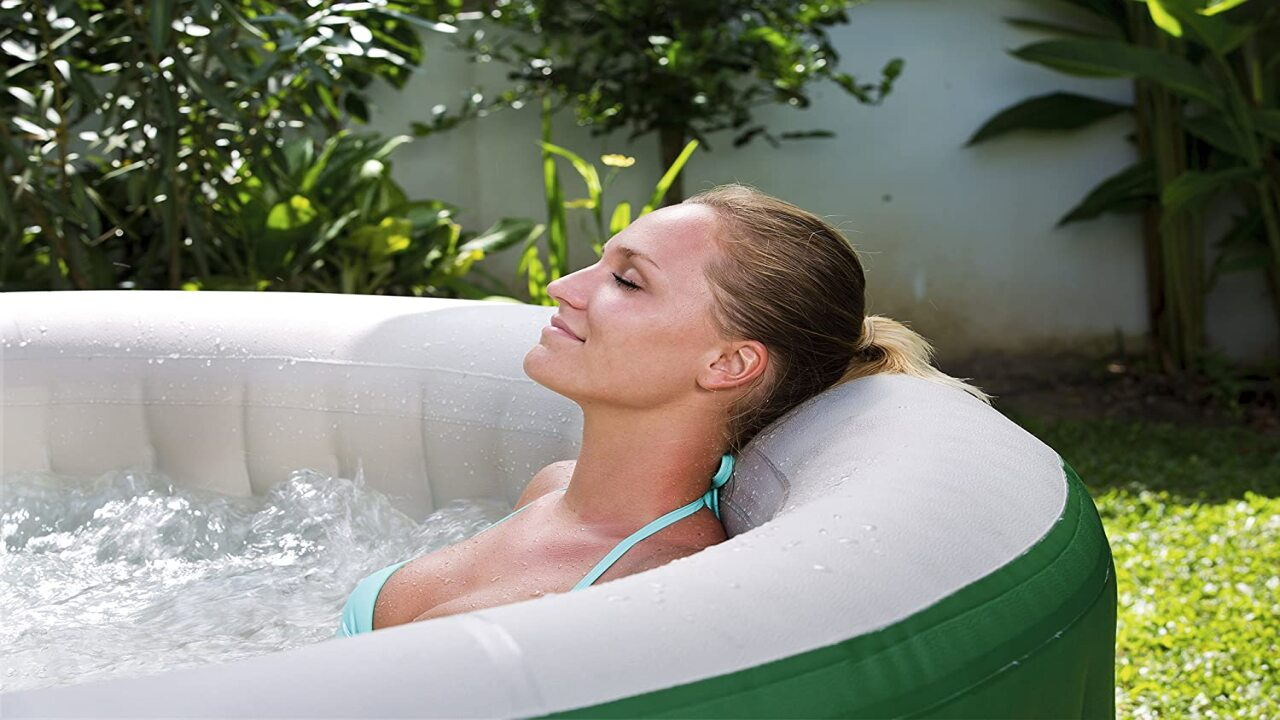You Can Buy An Inflatable Hot Tub On Amazon