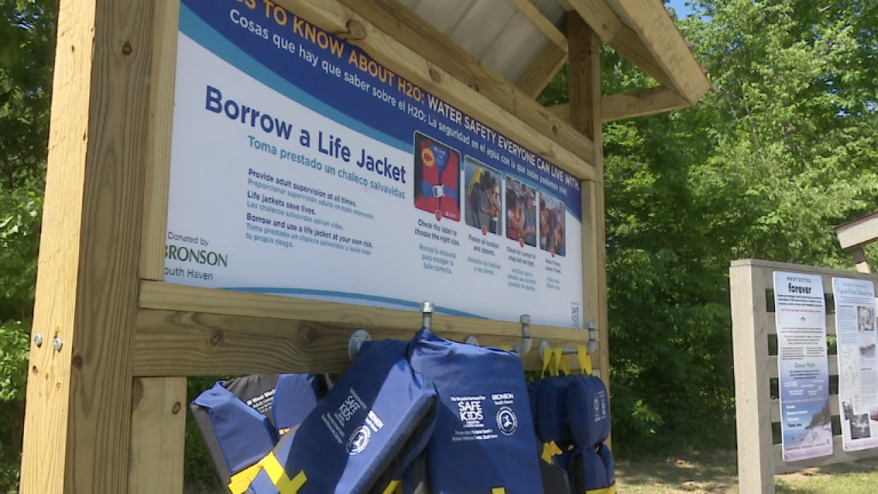Life jacket loaner station in South Haven hopes to promote safe swimming this summer