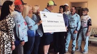 Bassmaters Gulfside Hospice donation
