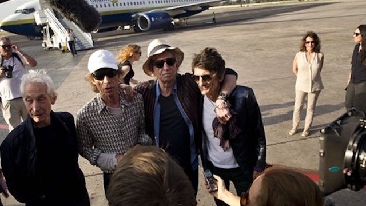 Rolling Stones ready for concert in Cuba