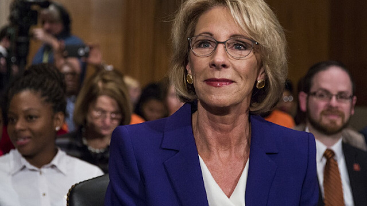 Voters try to 'buy' senator's vote on DeVos nomination
