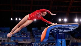 MyKayla Skinner vaults into event final after Biles' withdrawal