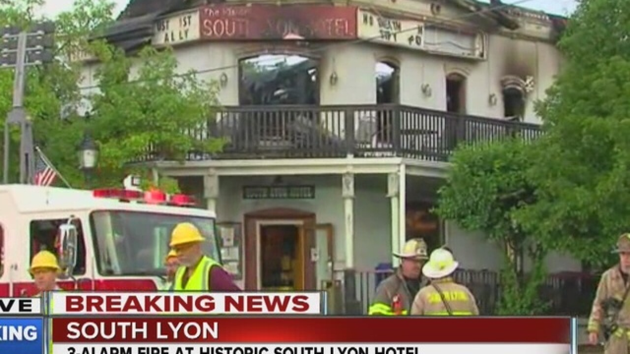 Crews battling fire at South Lyon restaurant