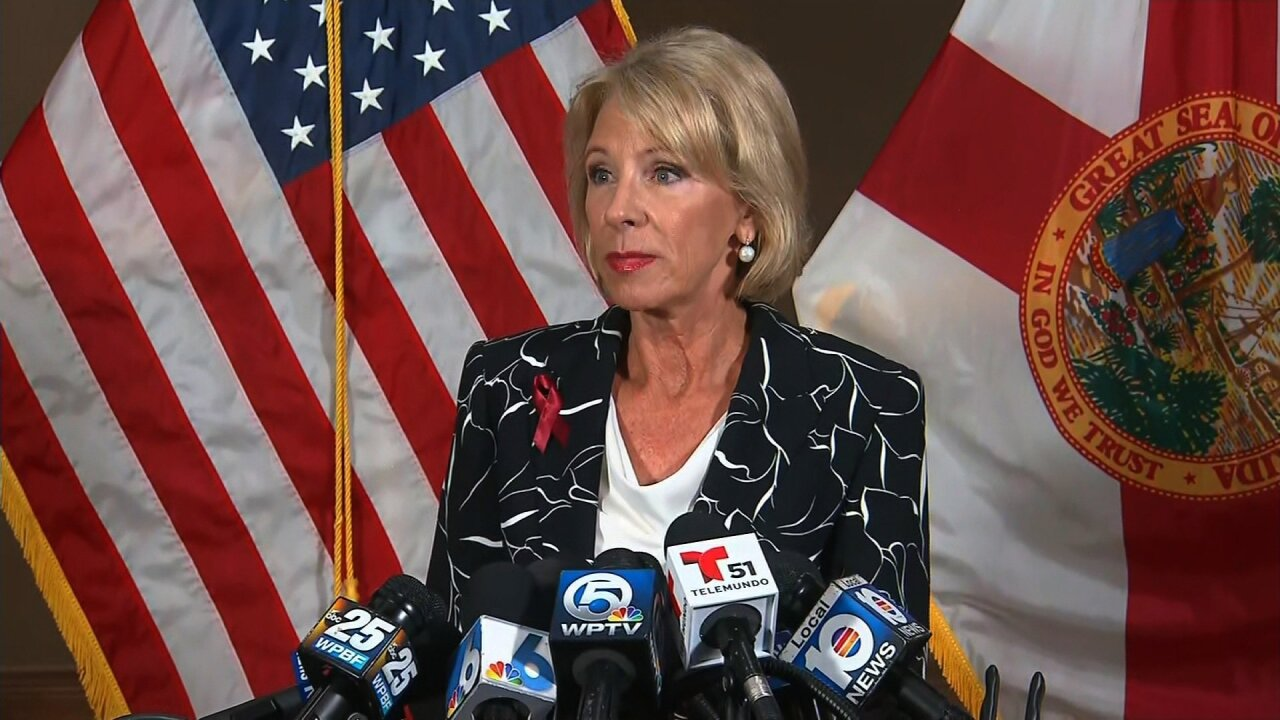 DeVos struggles to answer basic questions about schools in her home state